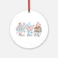 Peace Love 40 Ornament (Round)
