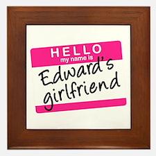 Twilight - Edward's Girlfriend Framed Tile