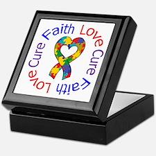 Autism FaithLoveCure Keepsake Box