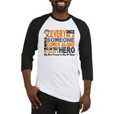 HERO Comes Along 1 Best Friend LEUK Baseball Jerse