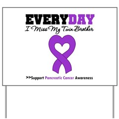 PancreaticCancerTwin Brother Yard Sign