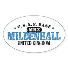 Mildenhall Air Force Base Oval Decal