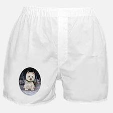 Snow Bunny Westie Boxer Shorts