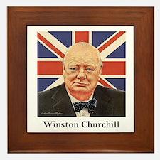 """""""Winston Churchill"""" Framed Tile"""