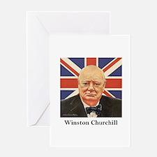 """Winston Churchill"" Greeting Card"