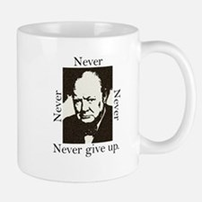 """Never Give Up"" Small Small Mug"
