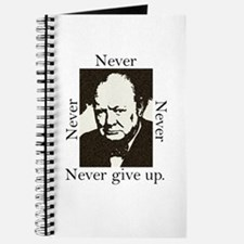 """Never Give Up"" Journal"