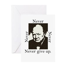 """Never Give Up"" Greeting Card"