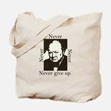 """Never Give Up"" Tote Bag"