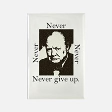 """Never Give Up"" Rectangle Magnet"