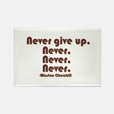 """Never Give Up"" Rectangle Magnet (10 pac"
