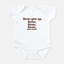 """Never Give Up"" Infant Bodysuit"