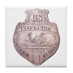 Steamboat Inspector Tile Coaster