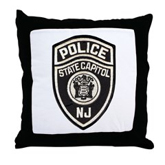 N.J. Capitol Police Throw Pillow