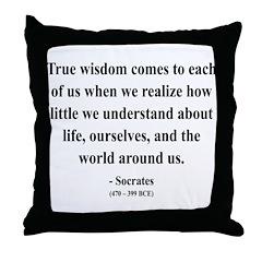 Socrates 12 Throw Pillow