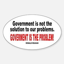 Ronald reagan quote Oval Decal