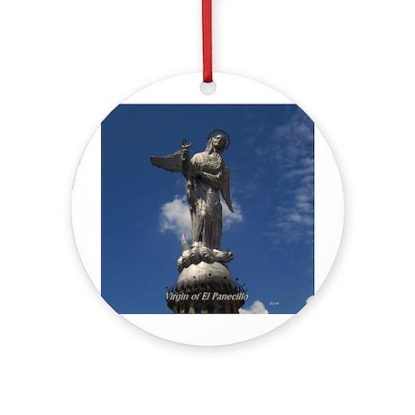 Virgin of El Panecillo Ornament (Round)