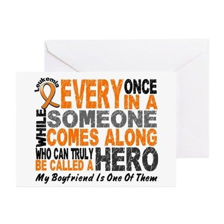 HERO Comes Along 1 Boyfriend LEUK Greeting Cards (