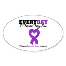 PancreaticCancerSon Oval Sticker (10 pk)