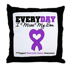 PancreaticCancerSon Throw Pillow