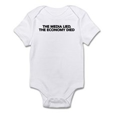 The Media Lied, The Economy Died Infant Bodysuit