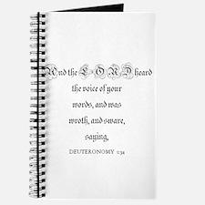 DEUTERONOMY 1:34 Journal