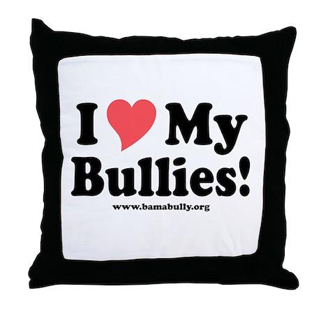 Heart Bullies Throw Pillow