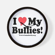 Heart Bullies Wall Clock