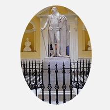 Cute President washington Oval Ornament