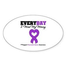 PancreaticCancerMommy Oval Decal