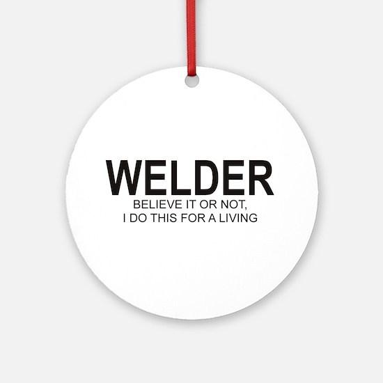 Welder Ornament (Round)