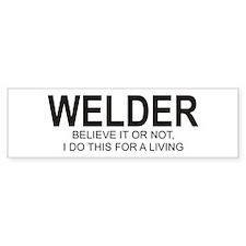 Welder Bumper Bumper Sticker
