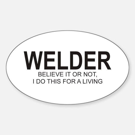 Welder Oval Decal