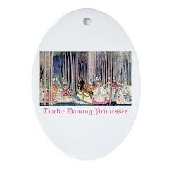 Twelve Dancing Princesses Oval Ornament