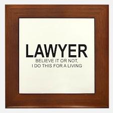 Lawyer Framed Tile