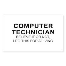 Computer Tech Rectangle Decal
