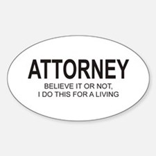 Attorney Oval Decal