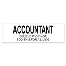 Accountant Bumper Bumper Sticker