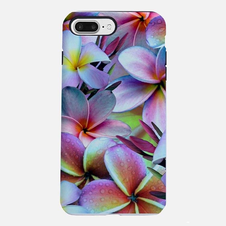 Rainbow Plumeria iPhone 7 Plus Tough Case