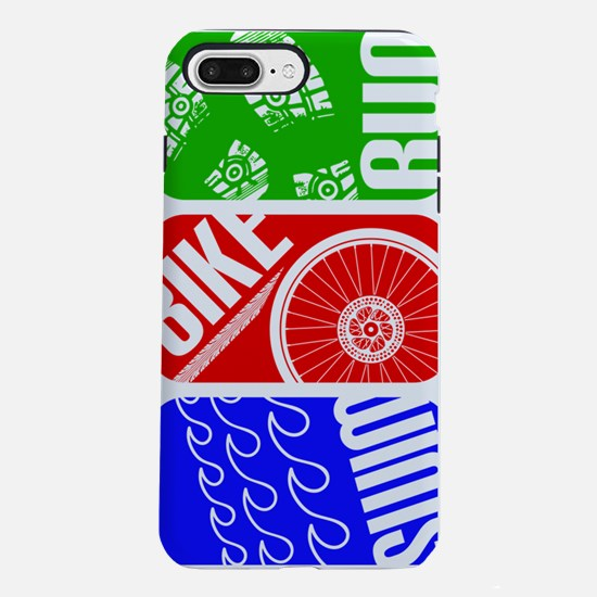 Triathlon TRI Swim Bike R iPhone 7 Plus Tough Case