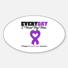 PancreaticCancerMom Oval Decal