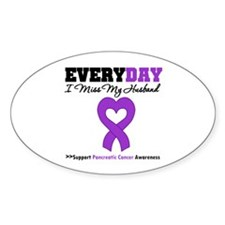 PancreaticCancerHusband Oval Sticker (10 pk)
