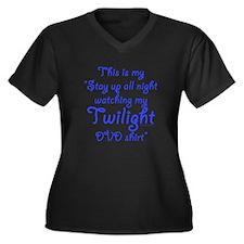 Watching Twilight Women's Plus Size V-Neck Dark T-