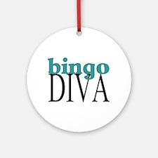 Bingo Diva Ornament (Round)