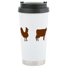 Brown Chicken Brown Cow Ceramic Travel Mug