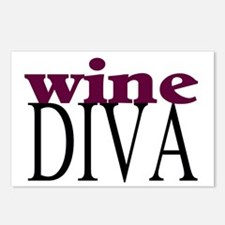Wine Diva Postcards (Package of 8)