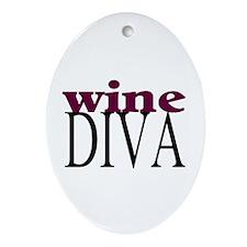 Wine Diva Oval Ornament