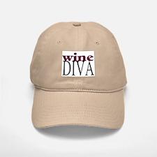 Wine Diva Baseball Baseball Cap