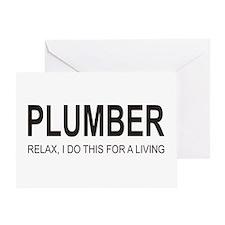 Plumber Greeting Card