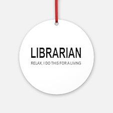 Librarian Ornament (Round)